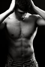 Shirtless sexy muscular man